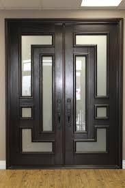 painted double front door. Home Interiors Using Modern Double Front Entry Doors: Doors And Tile Painted Door