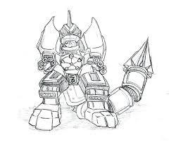 Megazord Drawing At Getdrawingscom Free For Personal Use Megazord