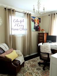cozy home office.  Home Colorful U0026 Cozy Home Office Furniture Decor RFBloggers And Y
