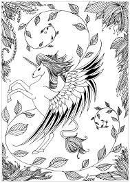 10 Coloriage Difficile Animaux Licorne