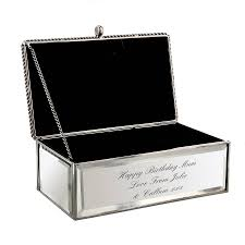 mirror jewellery box. personalised jewellery box mirror