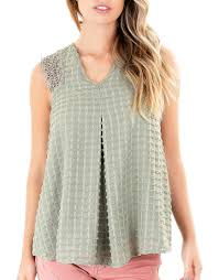 Buy Olive Embroidered Stripes Blouse Knox Rose Pina Court