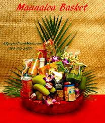 item for full view please order in advance mauna loa deluxe hawaiian fruit and hawaiian gourmet gift basket 145 50 a mixture of fresh hawaiian