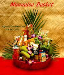 item for full view please order in advance mauna loa deluxe hawaiian fruit and hawaiian gourmet gift basket 145 50 a mixture of fresh hawaiian