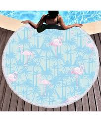 New 3D <b>Digital Printing</b> Flamingo <b>Beach</b> Towel Microfiber <b>Round</b> ...
