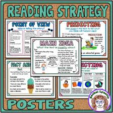 Reading Strategies Posters Mini Anchor Charts For Word Walls And Reference