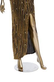 Bob Mackie Beaded Strapless Dress