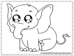 Small Picture Elephant Pictures To Color Kids Coloring Pictures Download
