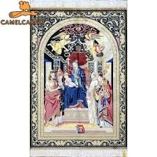 wall rug art wall hanging tapestry nativity of design handmade pure silk art rug hooked rug