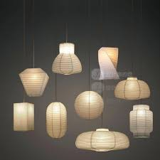 japanese paper ceiling lights style industrial vintage pendant light handmade led hanging lamp cafe restaurant free in