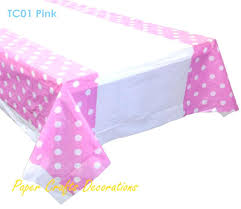 polka dot table cloths whole baby pink polka dots plastic table cover cloths wedding girls birthday polka dot table cloths