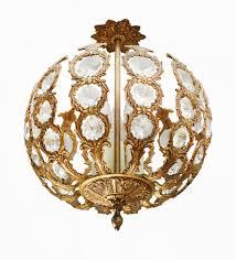 crystal open globe chandelier pendant light