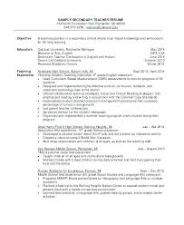 Teacher Resume Objective Delectable Example Resume For Teacher Language Arts Teacher Resume Teacher