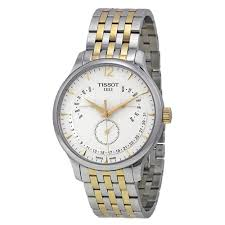 tissot tradition silver dial stainless steel case mens watch tissot tradition silver dial stainless steel case mens watch t0636371603700