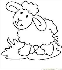 Small Picture Sheep3 Coloring Page Free Sheep Coloring Pages