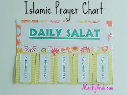 Islamic Daily Salat Prayer Chart Multicultural Kid Blogs