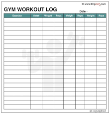 Work Out Charts Template Workout Chart Template Filename Home Weekly Routines For Men