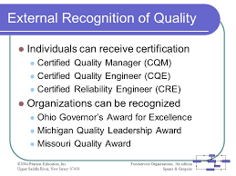 23 external recognition of quality certified reliability engineer
