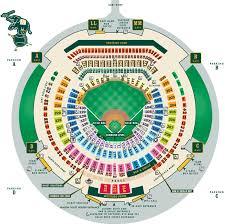 Oakland Coliseum Printable Seating Chart Seating Charts