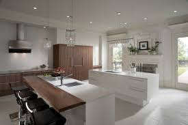 Wood Mode Cabinets Create The Look Wood Mode White Kitchen Walnut Veneer Modern