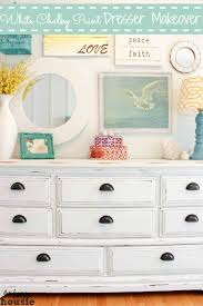 distressed white furniture. Interesting White White Distressed Chalky Paint Dresser Makeover At The Happy Housie Label With Furniture
