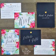 23 best arielle's wedding images on pinterest Calligraphy Wedding Invitations Australia bright pink blue navy floral watercolor watercolour gold heart wedding invitation suite rsvp response card design Wedding Calligraphy Envelopes