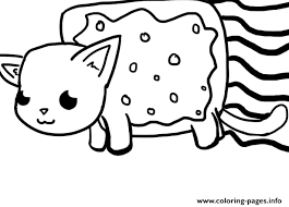 Small Picture Nyan Cat Big Coloring Pages Printable