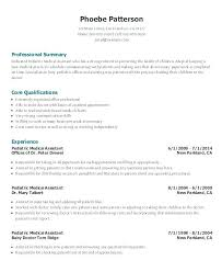 Physician Assistant Resume Template Fascinating Medical Assistant Resume Samples Amere
