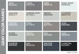 50 Shades Of Gray Color Chart Shades Of Grey Color Chart Gray Color Names Fifty Shades Of