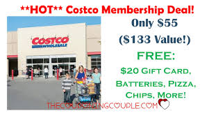 hot costco membership deal only 55 for 133 value