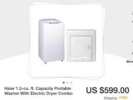 haier 2 5 cu ft large capacity portable dryer. small portable washer and dryer set www.ebay.com. $599.00 haier 2 5 cu ft large capacity