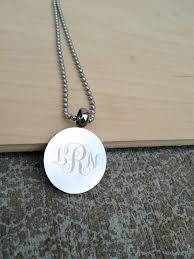 curly jewelry monogram end snless steel necklace curlys ballyhaunis