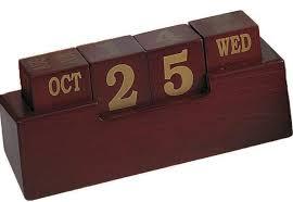 wooden block calendar