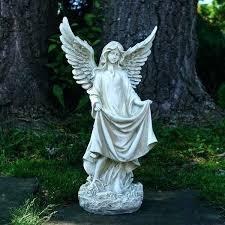 angel garden statues angel outdoor statue religious angel outdoor garden statue with birdbath or feeder angel