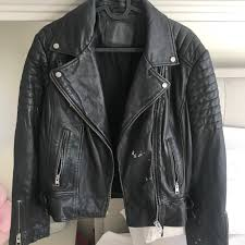 all saints papin leather biker 0
