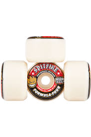 spitfire wheels formula four. spitfire formula four conical full 54mm wheels (white red) 4 pack a