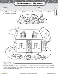 Small Picture About Me My House Worksheets Kindergarten and Learning