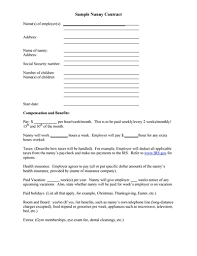 Nanny To Do List Template Nanny Contract Template Free Download Create Edit Fill