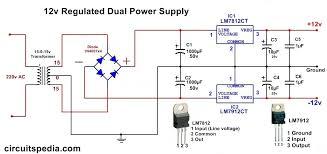 dual 12v power schematic wiring not lossing wiring diagram • dc dual power supply circuit diagram 12v 15v 9v regulated dual rh circuitspedia com simple 12v wiring diagram 12v switch wiring