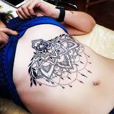 узоры женская тату на животе фото татуировок