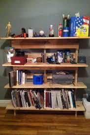 Pallet bookshelf in the art studio!