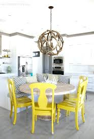 gray and yellow kitchen the lettered cottage driftwood chandelier dining table room chairs uk