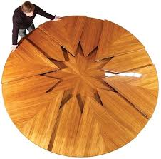 expandable round dining table. Expanding Round Dining Table Expands On A Mechanical Iris My Future Expandable