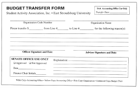 Transfer Request Form Student Activity Association Funding Policies 13