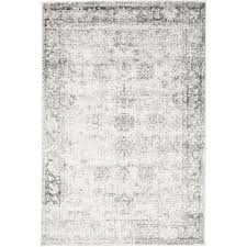gray and white rug. Brandt Machine Woven Grey/White Area Rug Gray And White