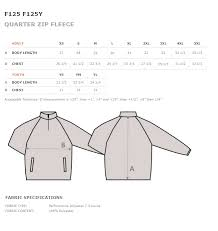 Baw Size Chart College Park Soccer 1 4 Zip Sweatshirt