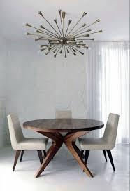 sputnik chandelier dining room mid century style decor round table