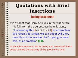 Brackets In Quotes Extraordinary Writing Integrating Quotes Effectively To Avoid Confusing Your