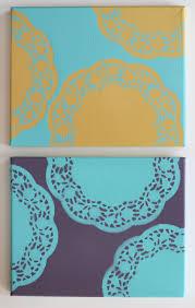 Diy Canvas Art Easy Diy Wall Art With Doilies