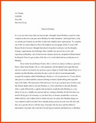 Example Of An Interview Essay Interview Essay Example Template